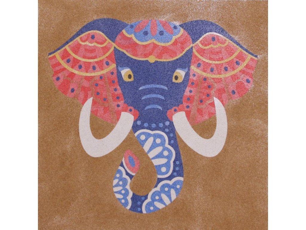 Šablona na pískování sloní hlava (Varianta 490 x 490 mm)