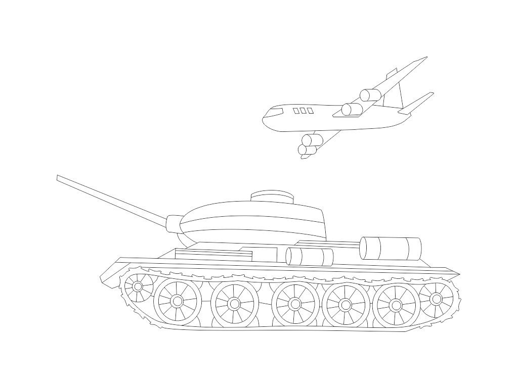 sablona-na-piskovani-tank-s-letounem-radost-v-pisku