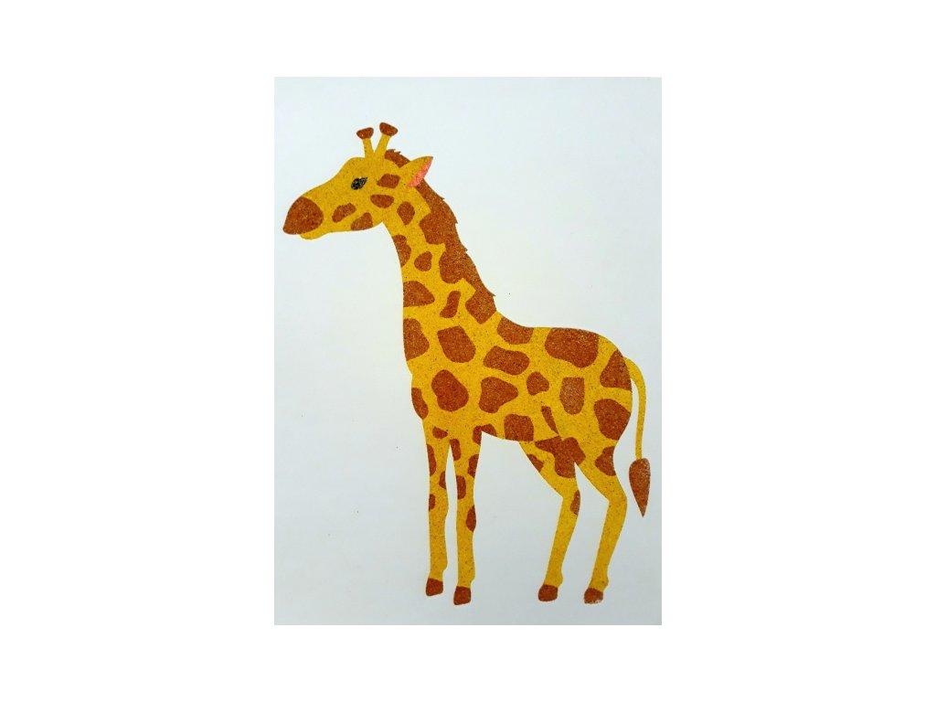 Šablona na pískování žirafa (Varianta A5 (148 x 210 mm))
