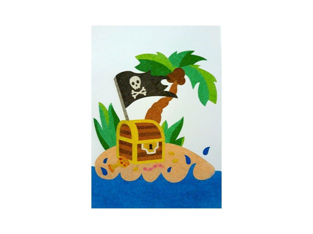 Šablona na pískování pirátský poklad (Varianta A5 (148 x 210 mm))