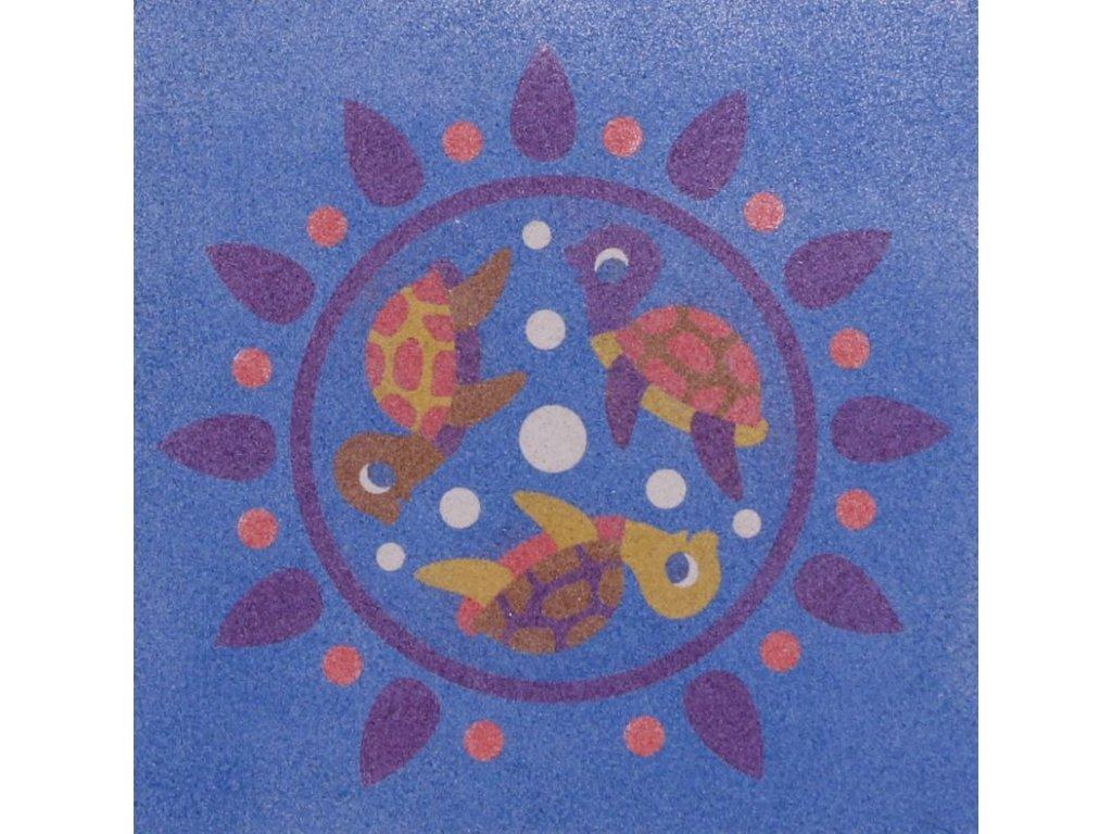 Šablona na pískování mandalkové želvičky (Varianta 490 x 490 mm)