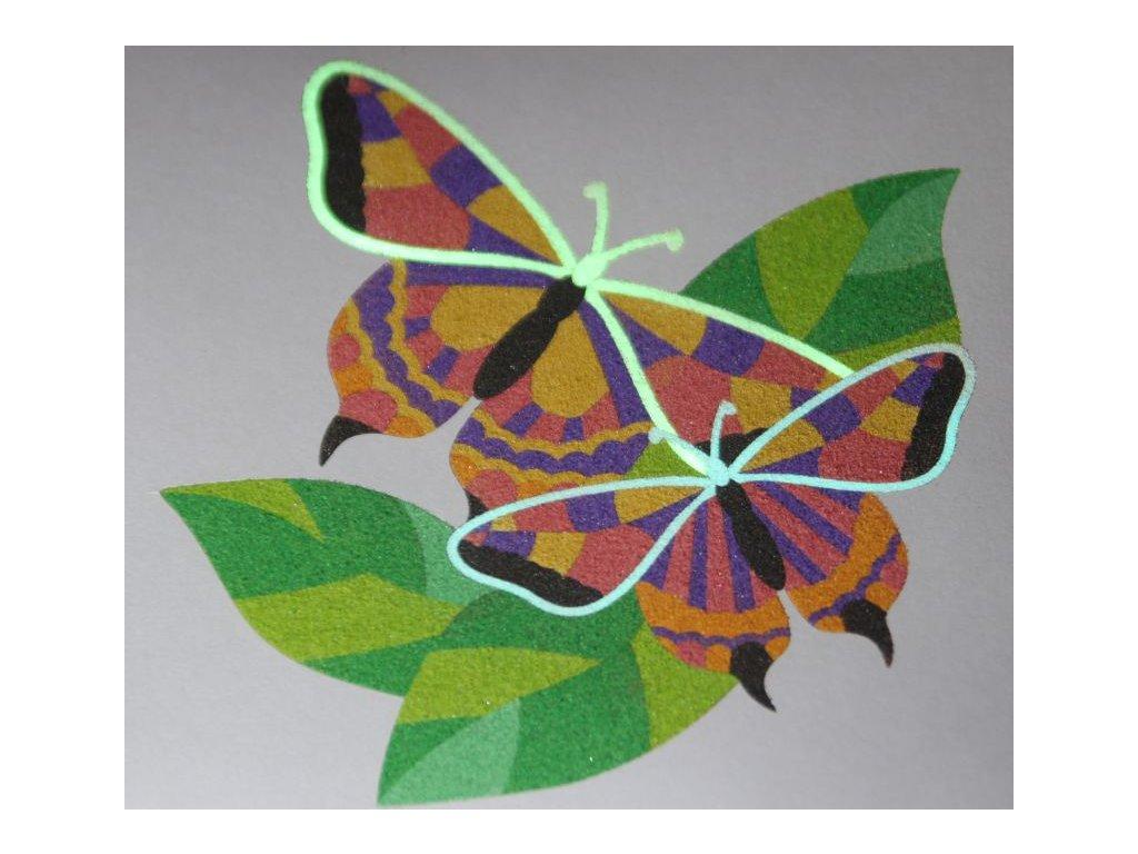 Šablona na pískování pár motýlů (Varianta 490 x 490 mm)