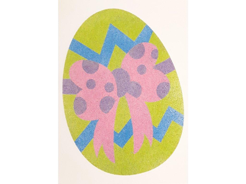 Šablona na pískování vajíčko s mašlí (Varianta A5 (148 x 210 mm))
