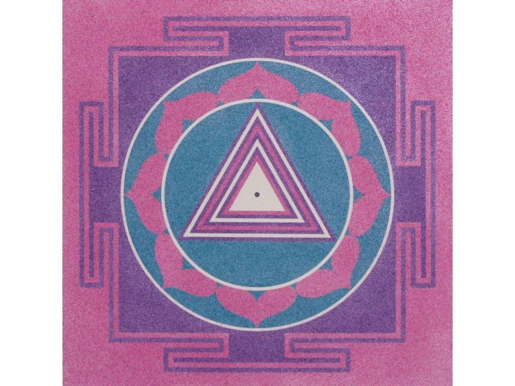 Šablona na pískování mandala 31 - matatripur bhairavingi (Varianta 490 x 490 mm)