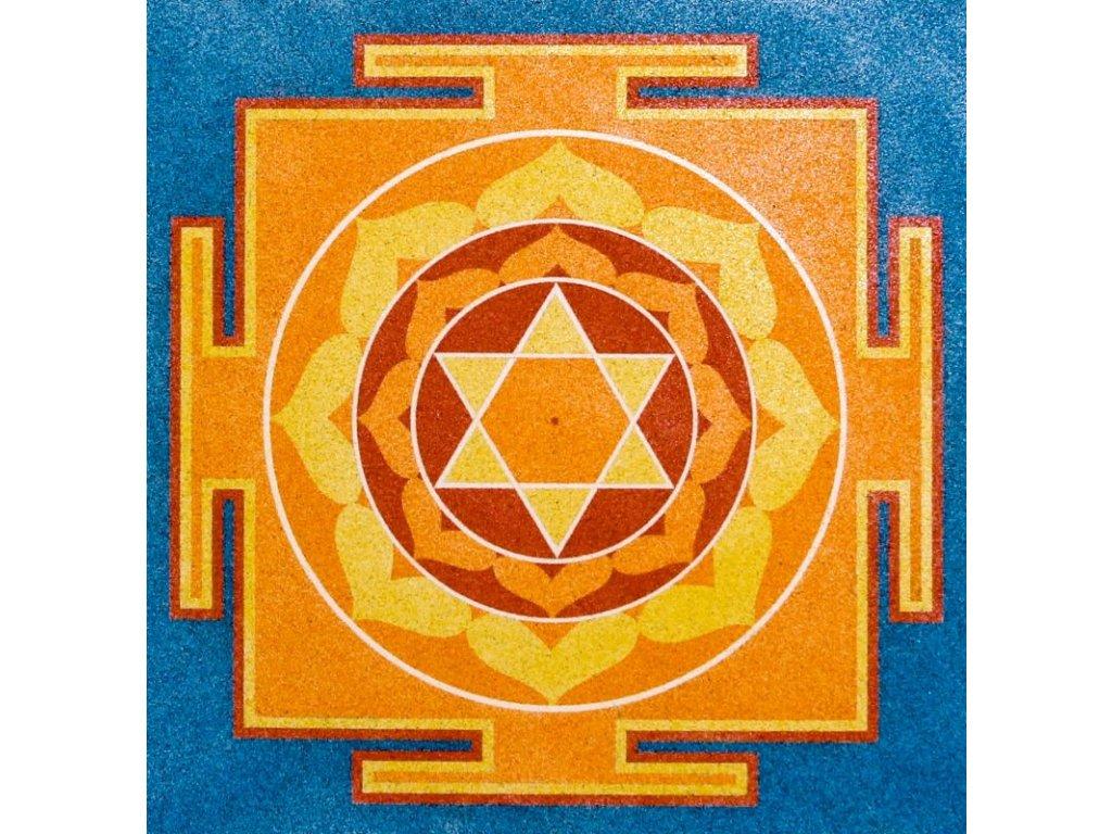 Šablona na pískování mandala 32 - Bhuhávéšnári (Varianta 490 x 490 mm)