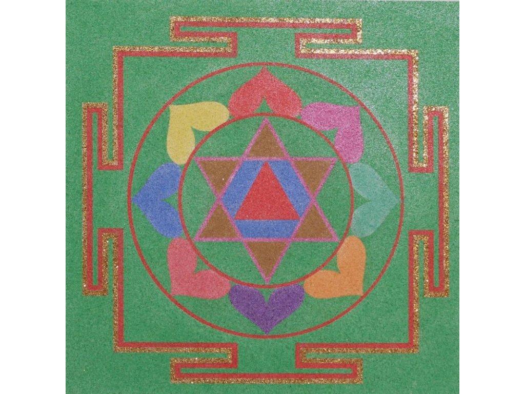 Šablona na pískování mandala 34 - bagla mukhi (Varianta 490 x 490 mm)