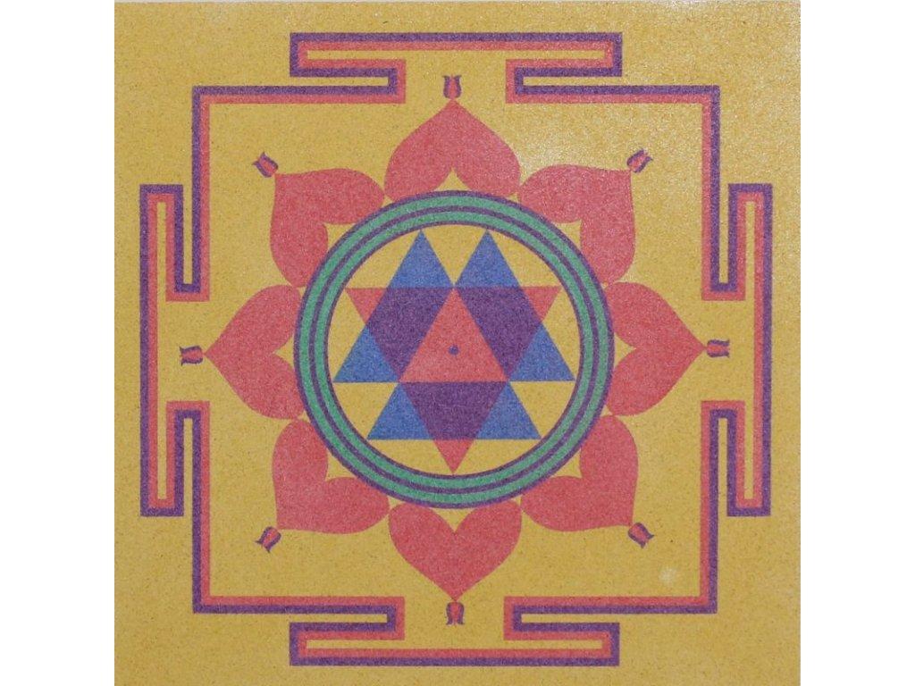 Šablona na pískování mandala 37 - durga jantra (Varianta 490 x 490 mm)