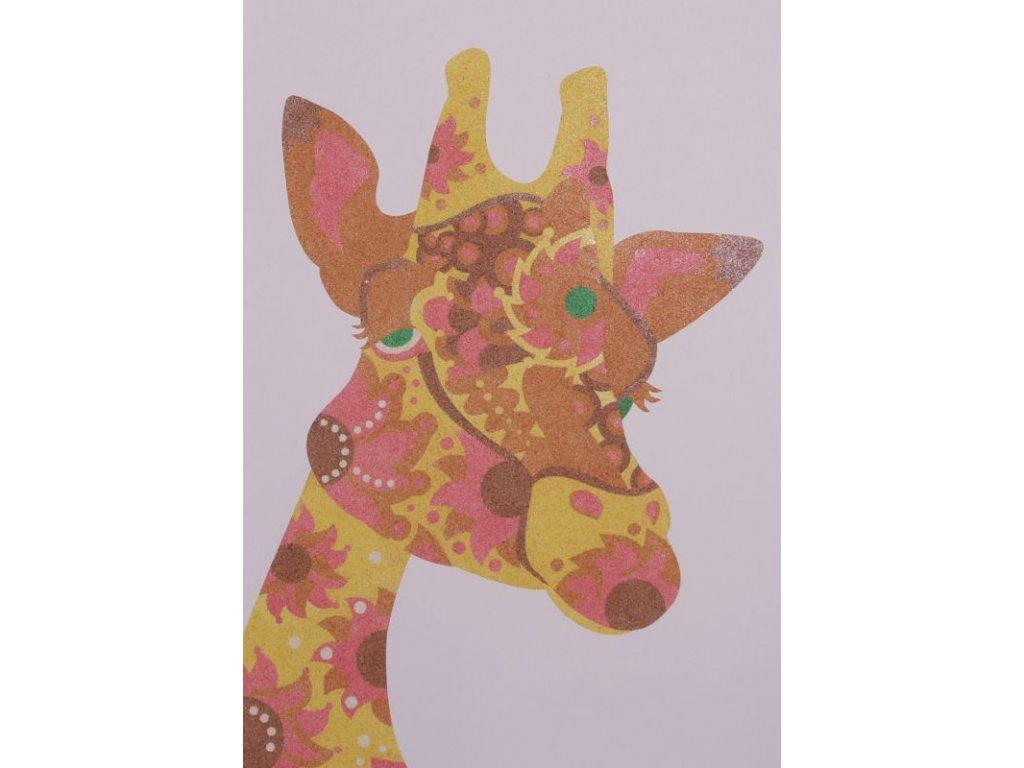 Šablona na pískování žirafa mandala (Varianta A4 (210 × 297 mm))