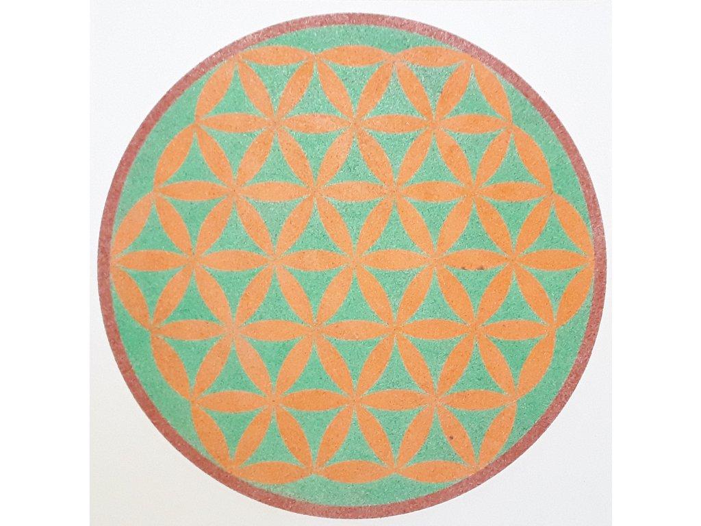 Šablona na pískování mandala Květ Života (Varianta 490 x 490 mm)