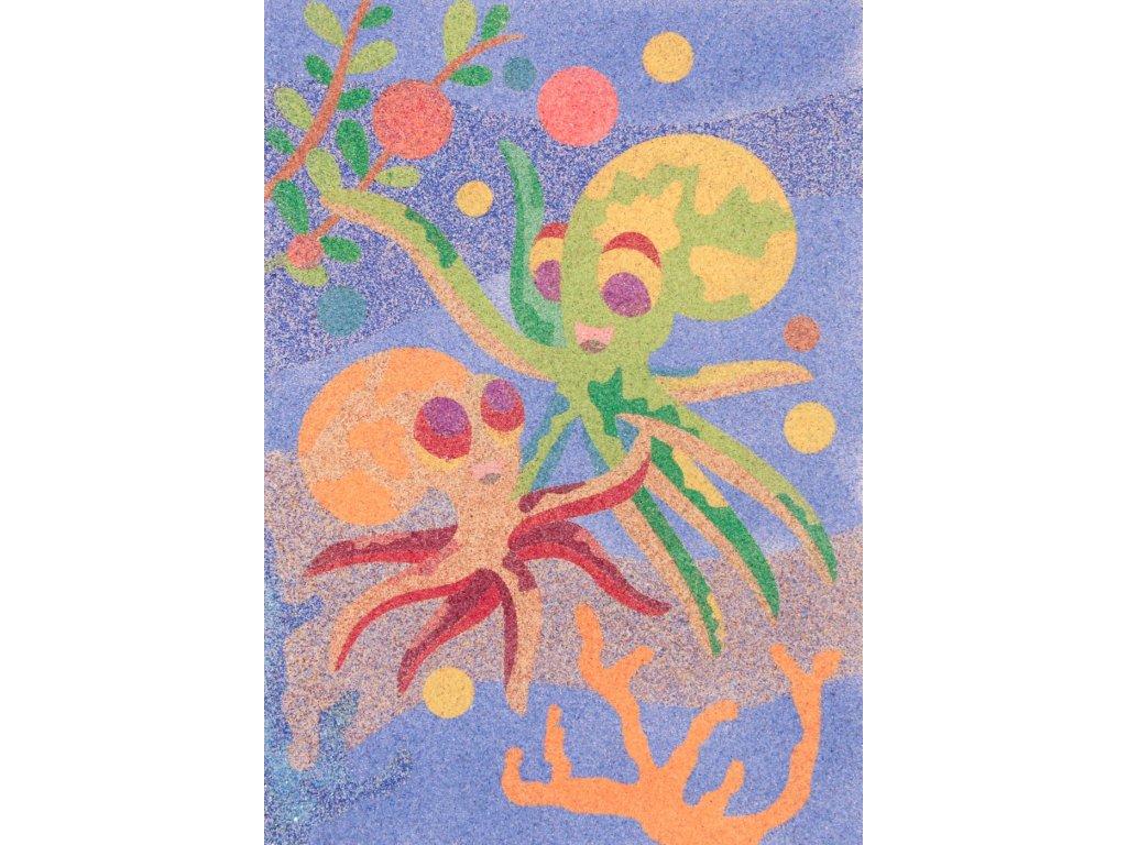 Šablona na pískování chobotnice kamarádky (Varianta A5 (148 x 210 mm))