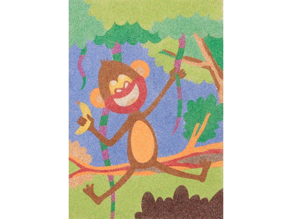 Šablona na pískování opice s banánem (Varianta A5 (148 x 210 mm))