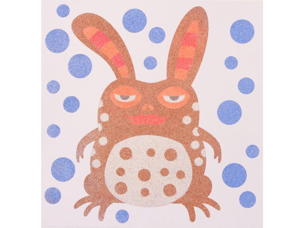 Šablona na pískování alebrije žába (Varianta 490 x 490 mm)