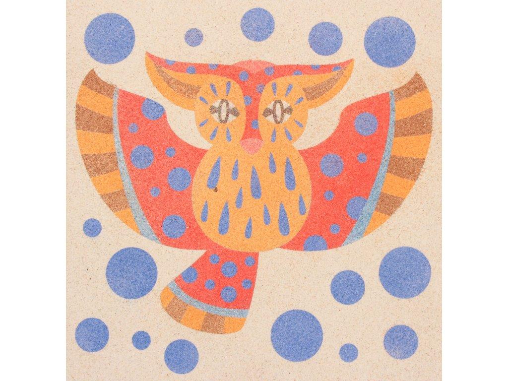 Šablona na pískování alebrije sova (Varianta 490 x 490 mm)