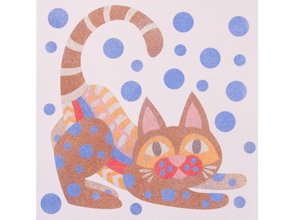 Šablona na pískování alebrije kočka (Varianta 490 x 490 mm)