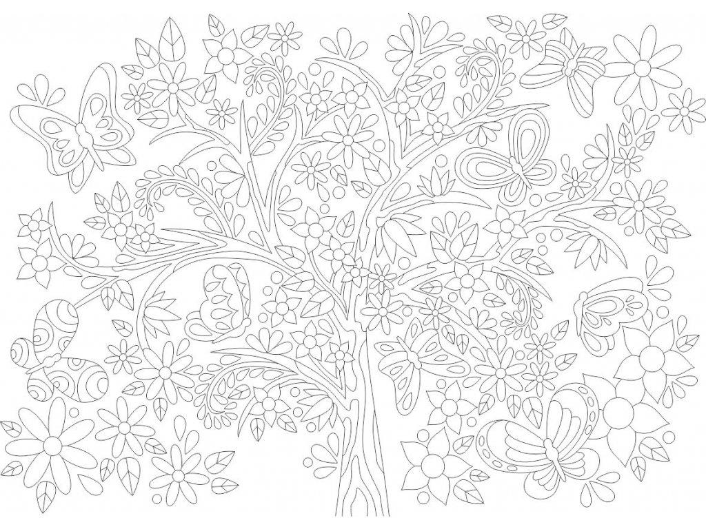motyli strom a4