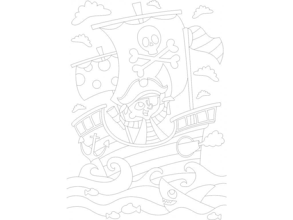 pirat na lodi a4