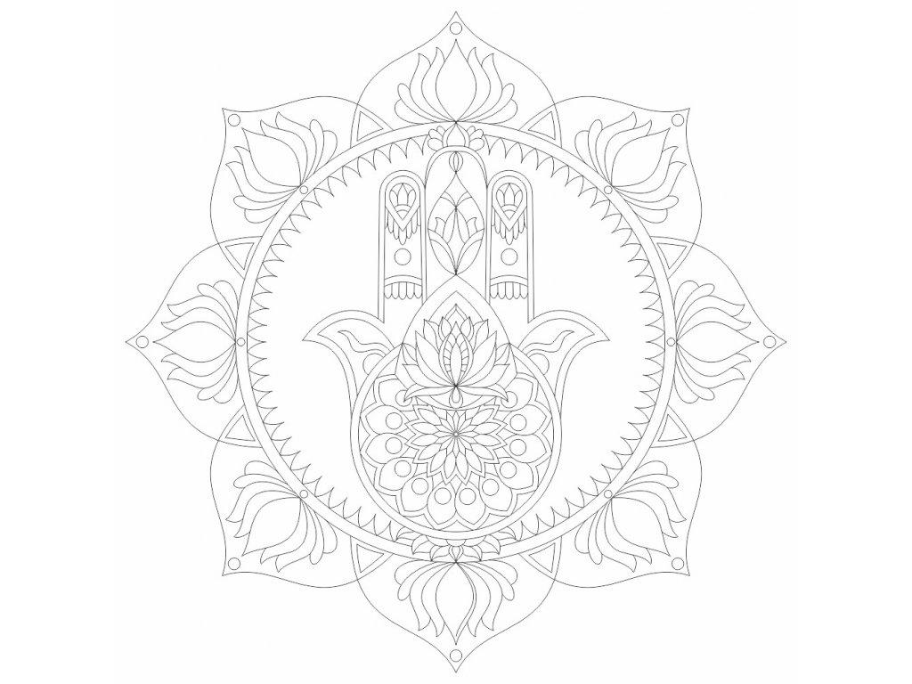 mandala ochrany se symbolem HAMSA (57)