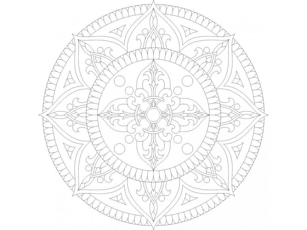 Mandala se symbolem DORDŽE uprostred (58)