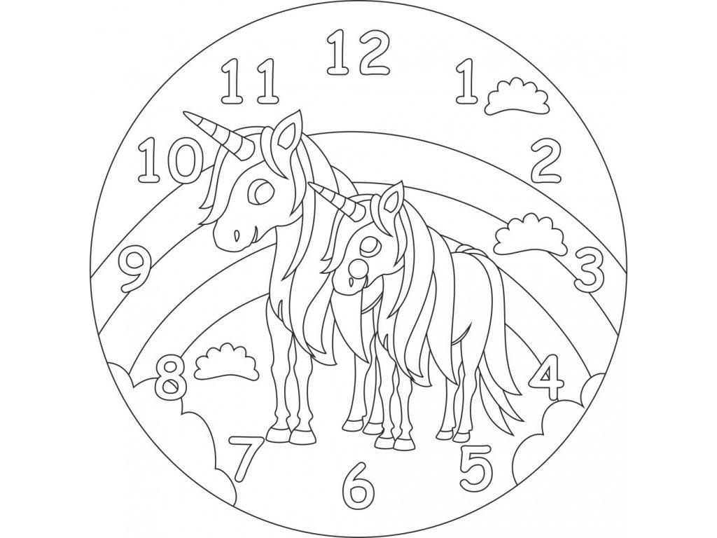 hodiny jednorozci s duhou