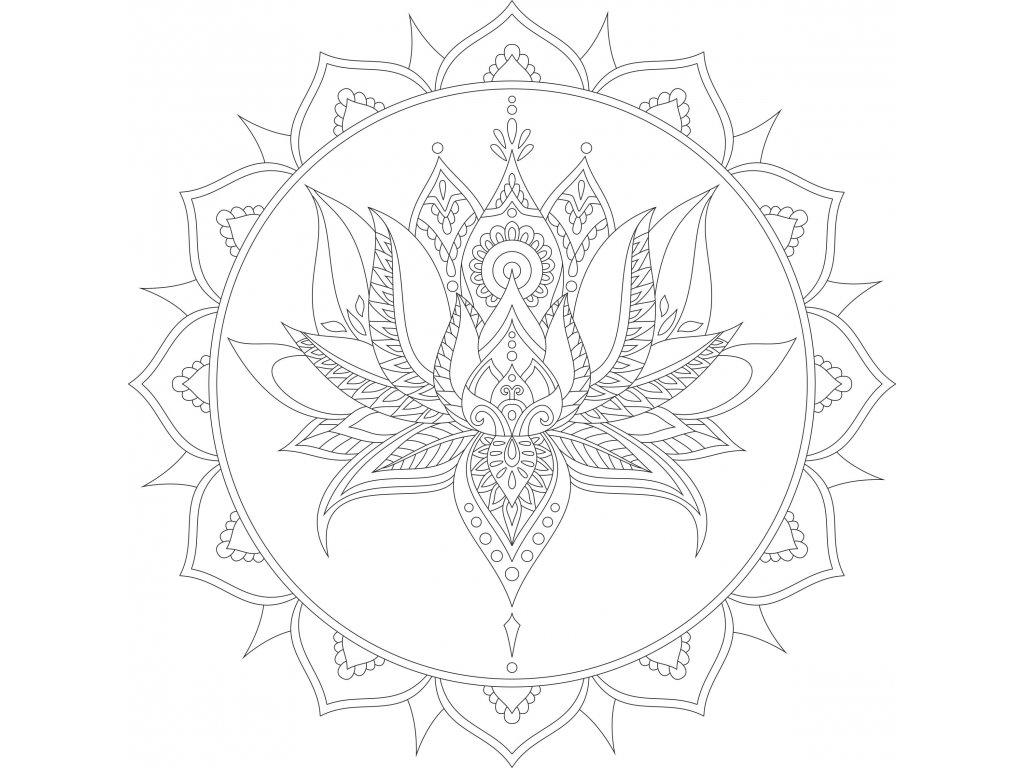 lotosovy kvet v mandale