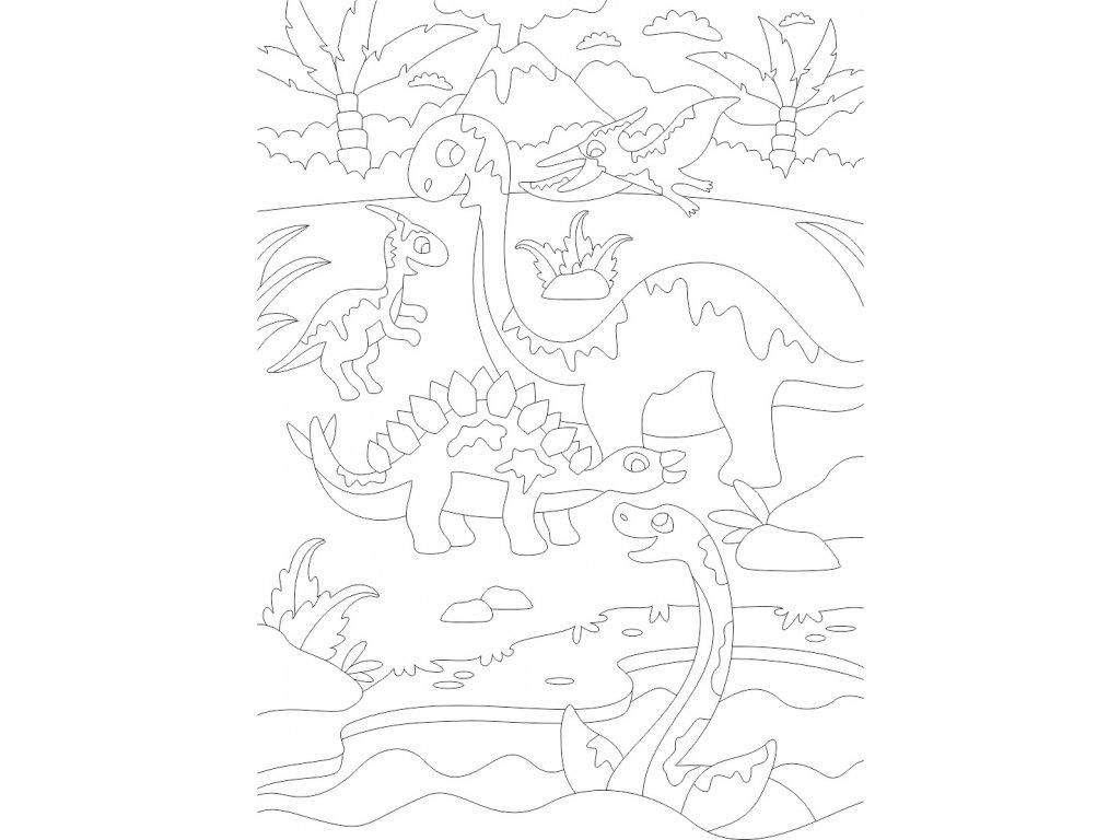 a4 dinosauri krajina