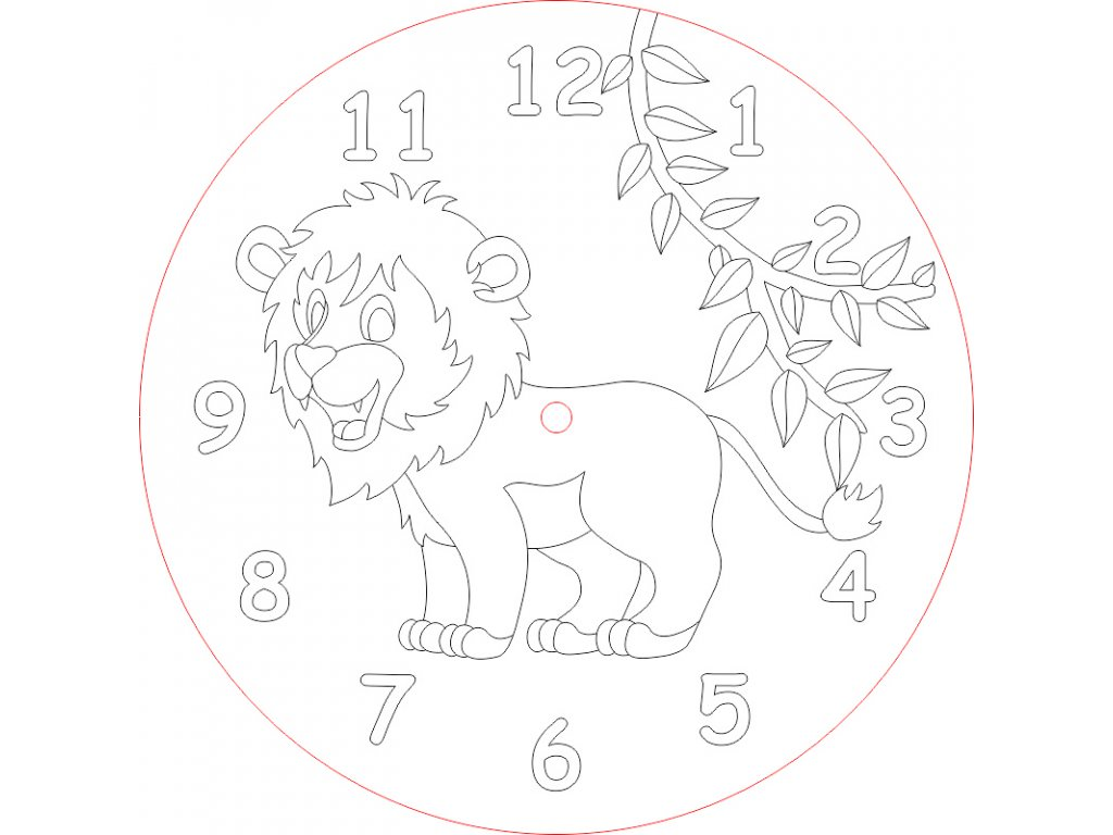 hodiny lvicek