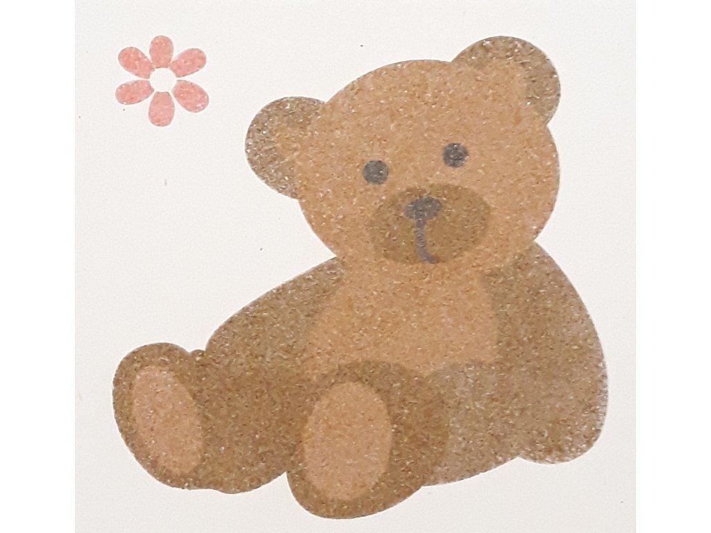 Šablona na pískování medvídek