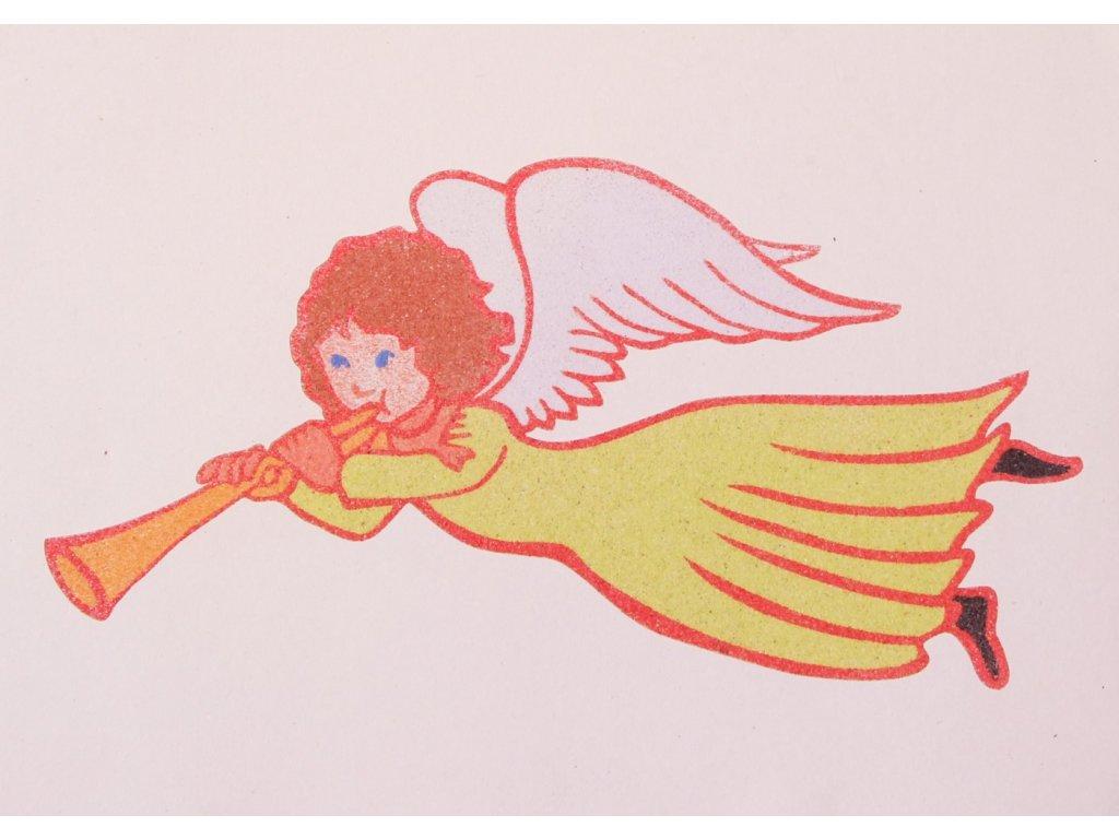 Šablona na pískování Andělíček 1