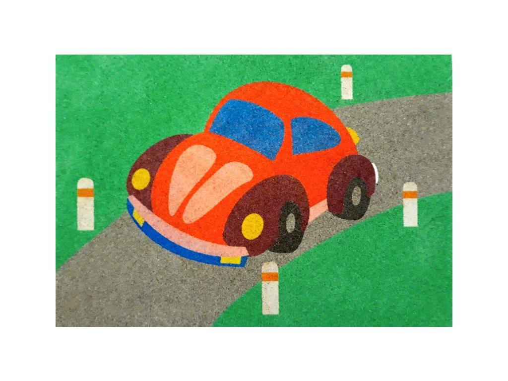 Šablona na pískování auto