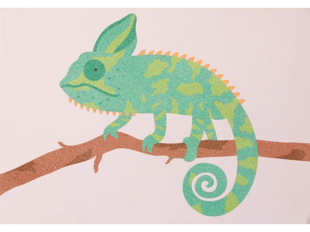 Šablona na pískování chameleon