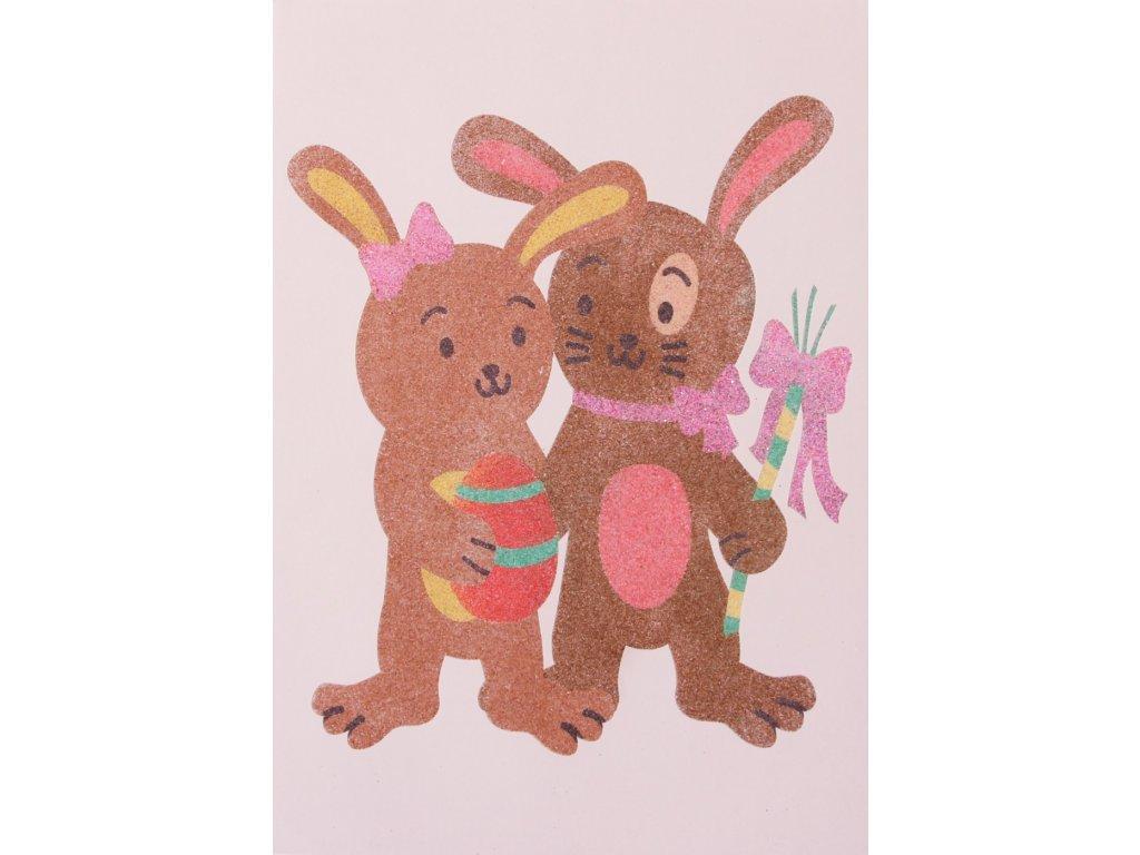 Šablona na pískování králičí pár