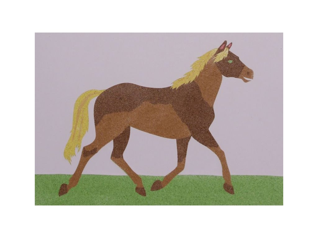 Šablona na pískování kůň