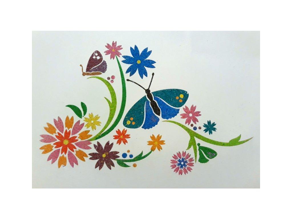 Šablona na pískování motýlci
