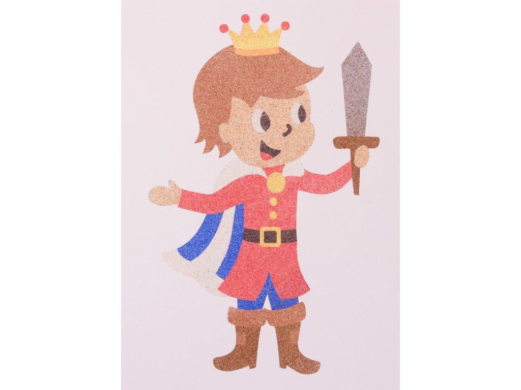 Šablona na pískování princ
