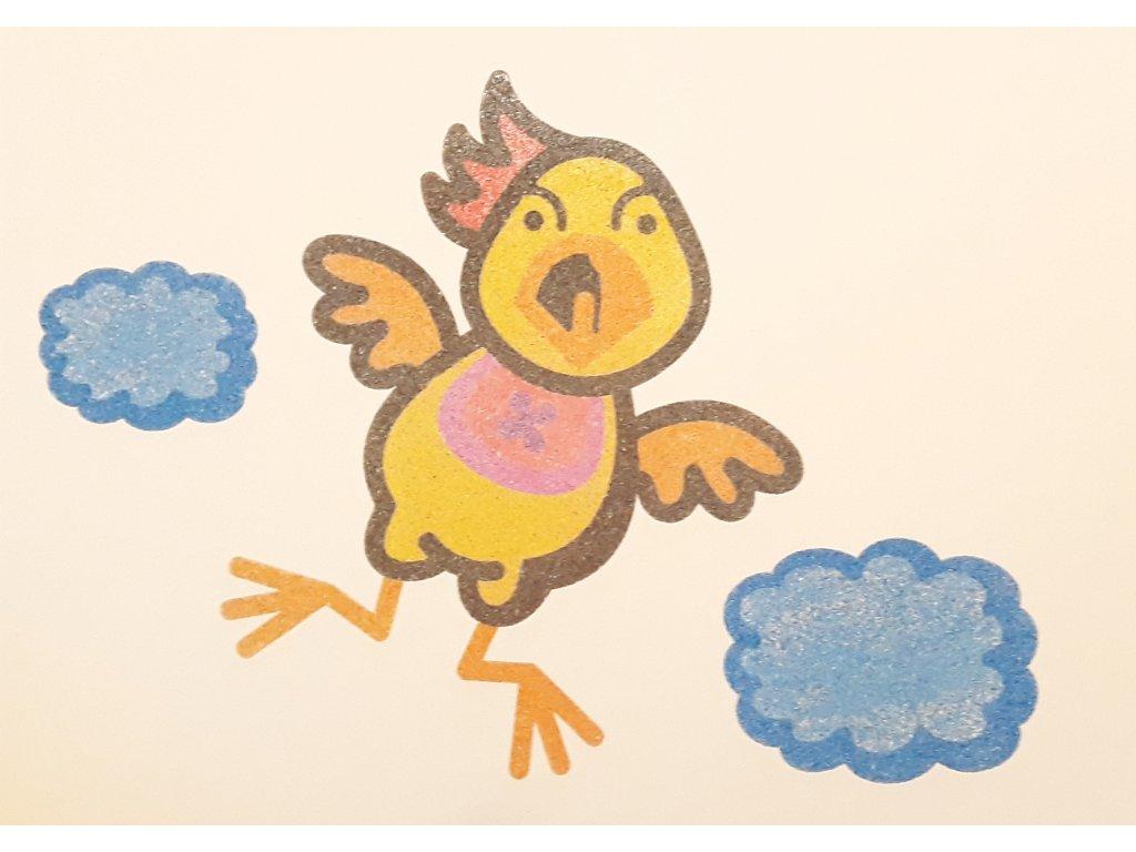 Šablona na pískování ptáček