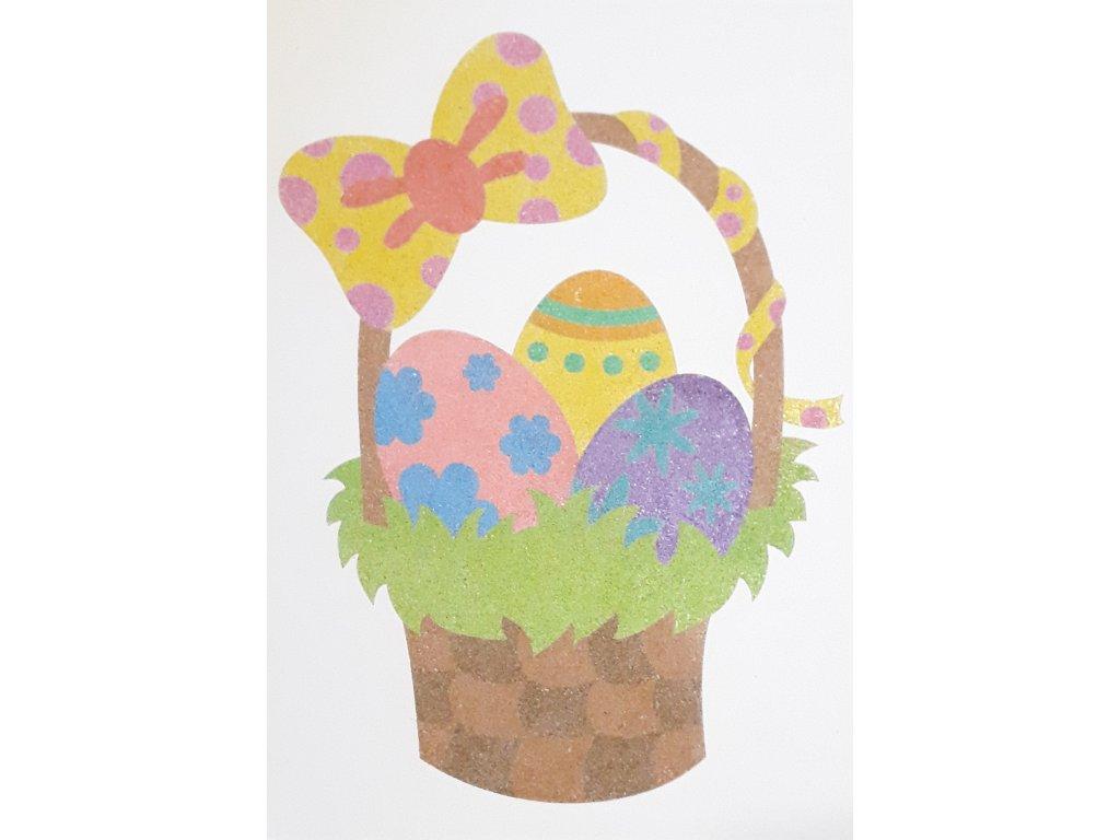 Šablona na pískování velikonoční košík