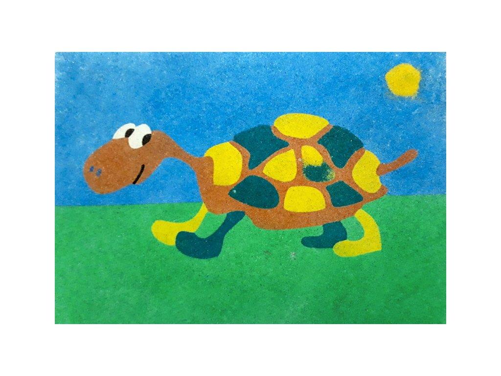 Šablona na pískování želva