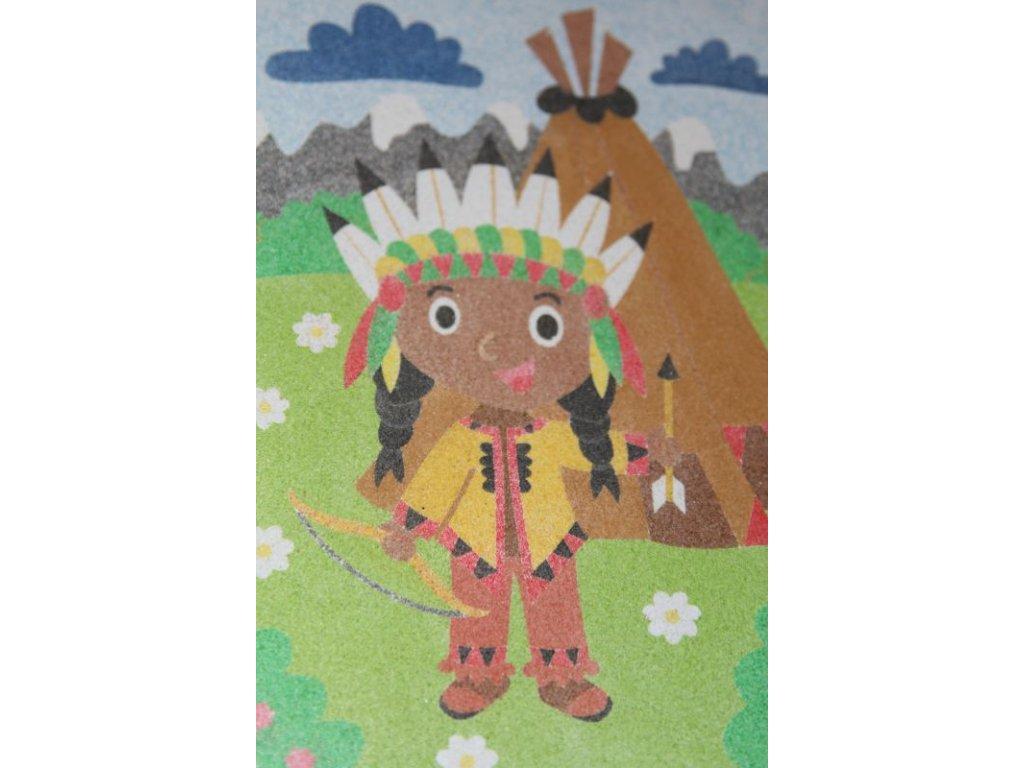 Šablona na pískování indiánek
