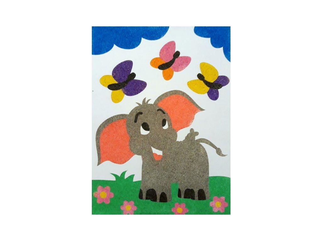 Šablona na pískování sloník