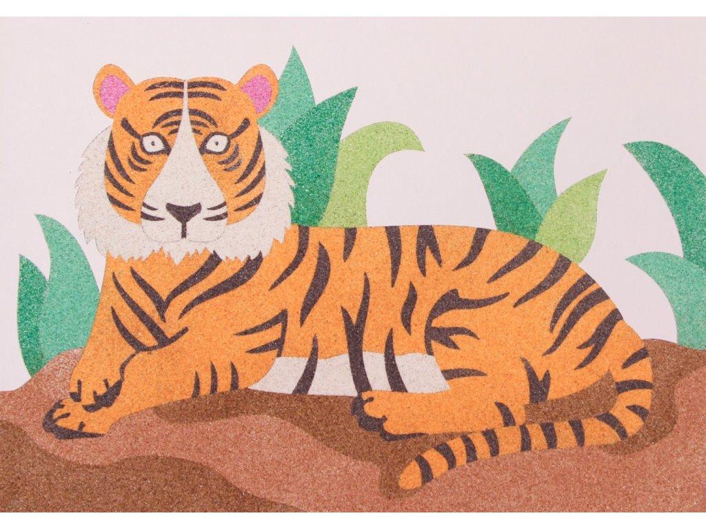 Šablona na pískování tygr
