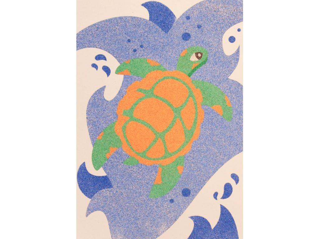 Šablona na pískování želvička
