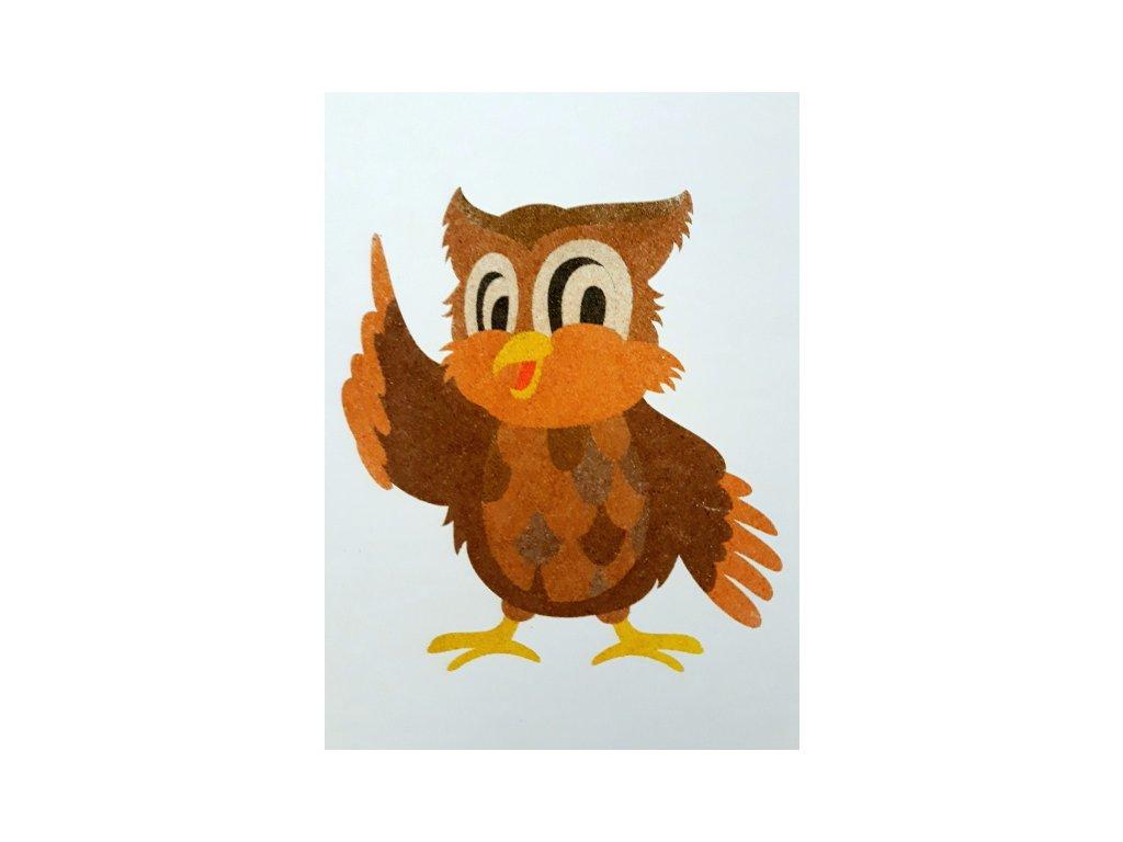 Šablona na pískování moudrá sova