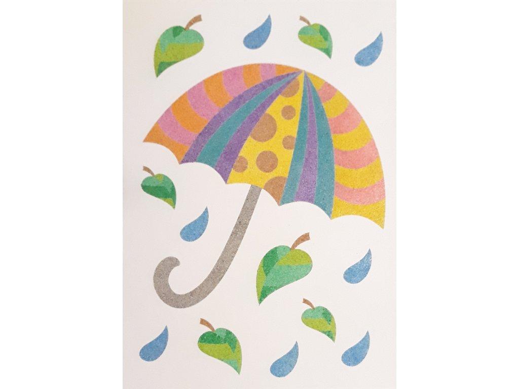 Šablona na pískování deštník