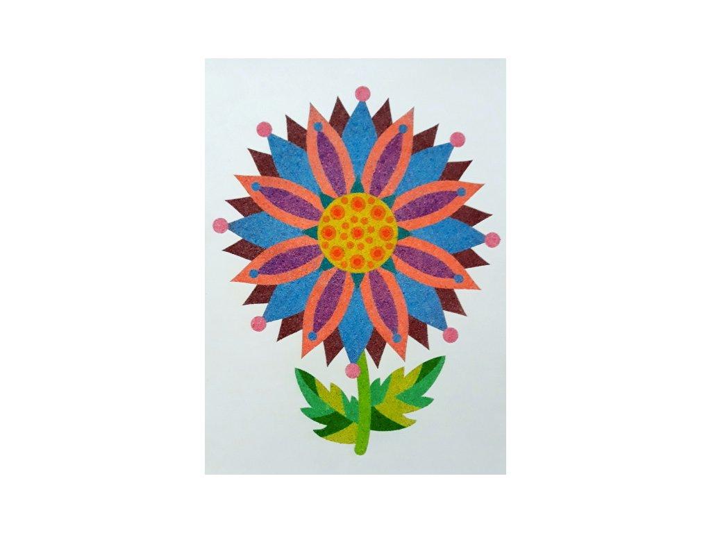 Šablona na pískování mandalový květ