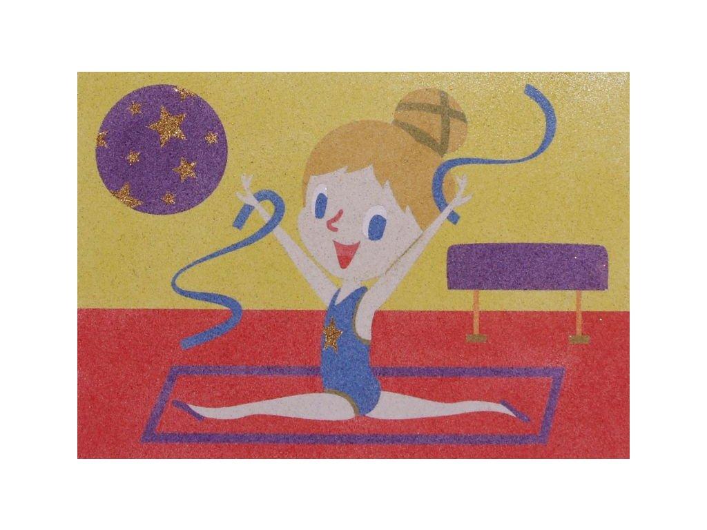 Šablona na pískování gymnastka
