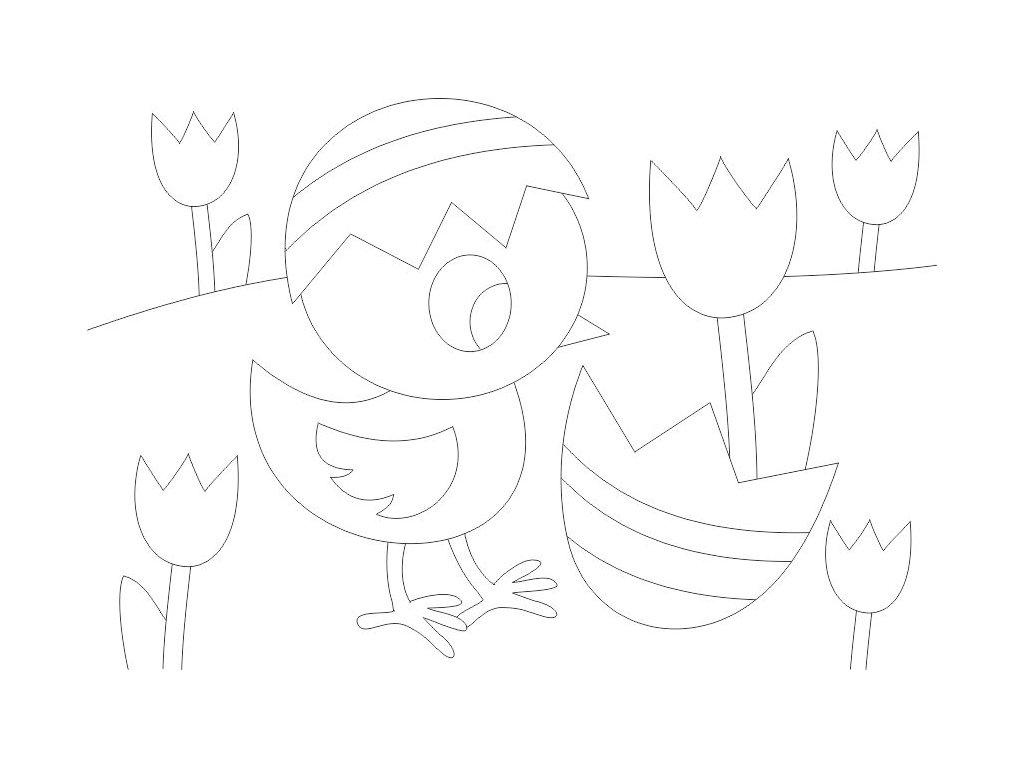 sablona-na-piskovani-kuratko-s-tulipany-radost-v-pisku
