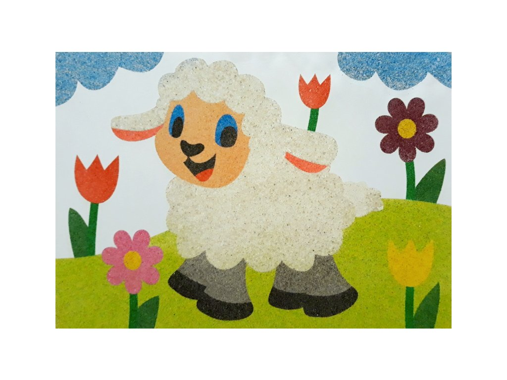 Šablona na pískování ovečka na louce