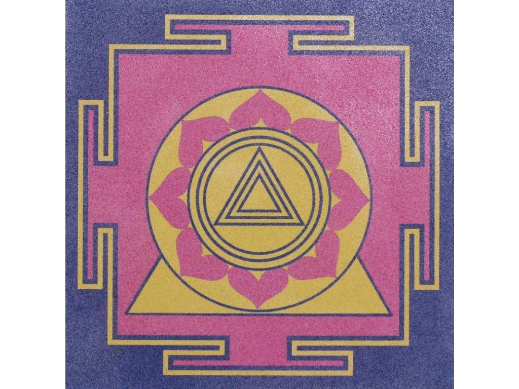Šablona na pískování mandala 36 - kálí jantra