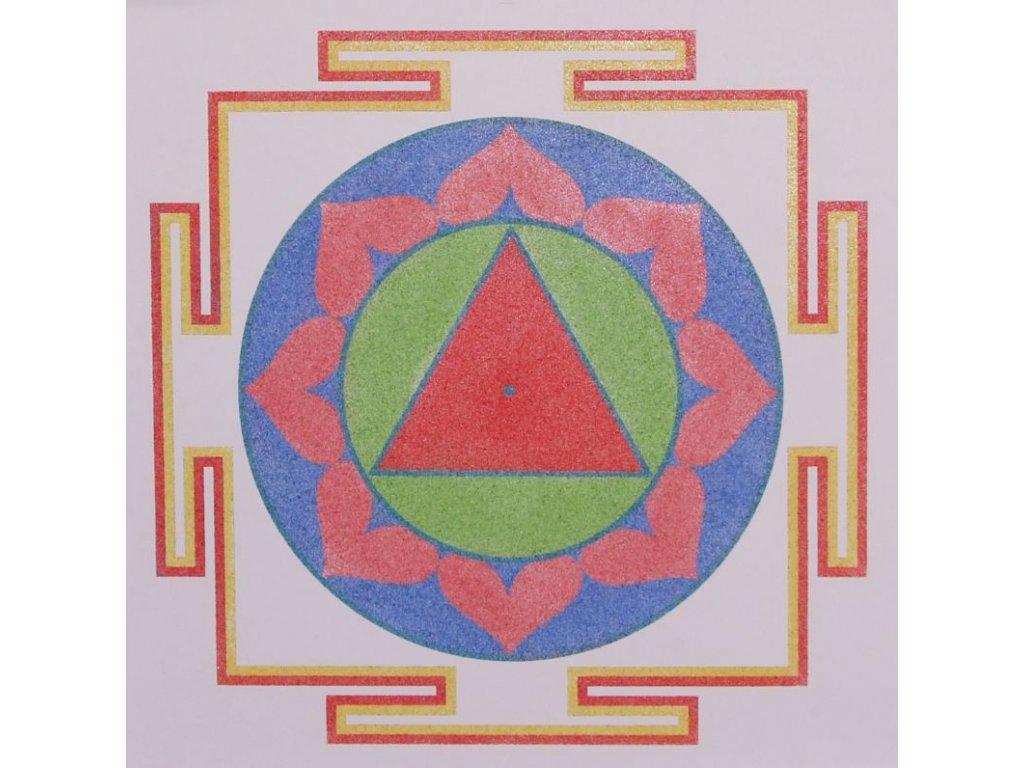 Šablona na pískování mandala 38 - Tára jantra