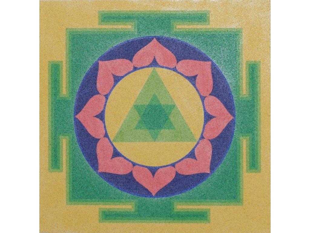 Šablona na pískování mandala 39 - ganéša jantra